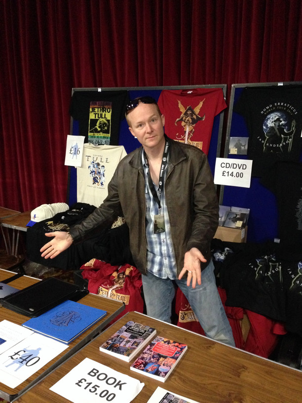 moonlighting at the Jethro Tull Merch stand