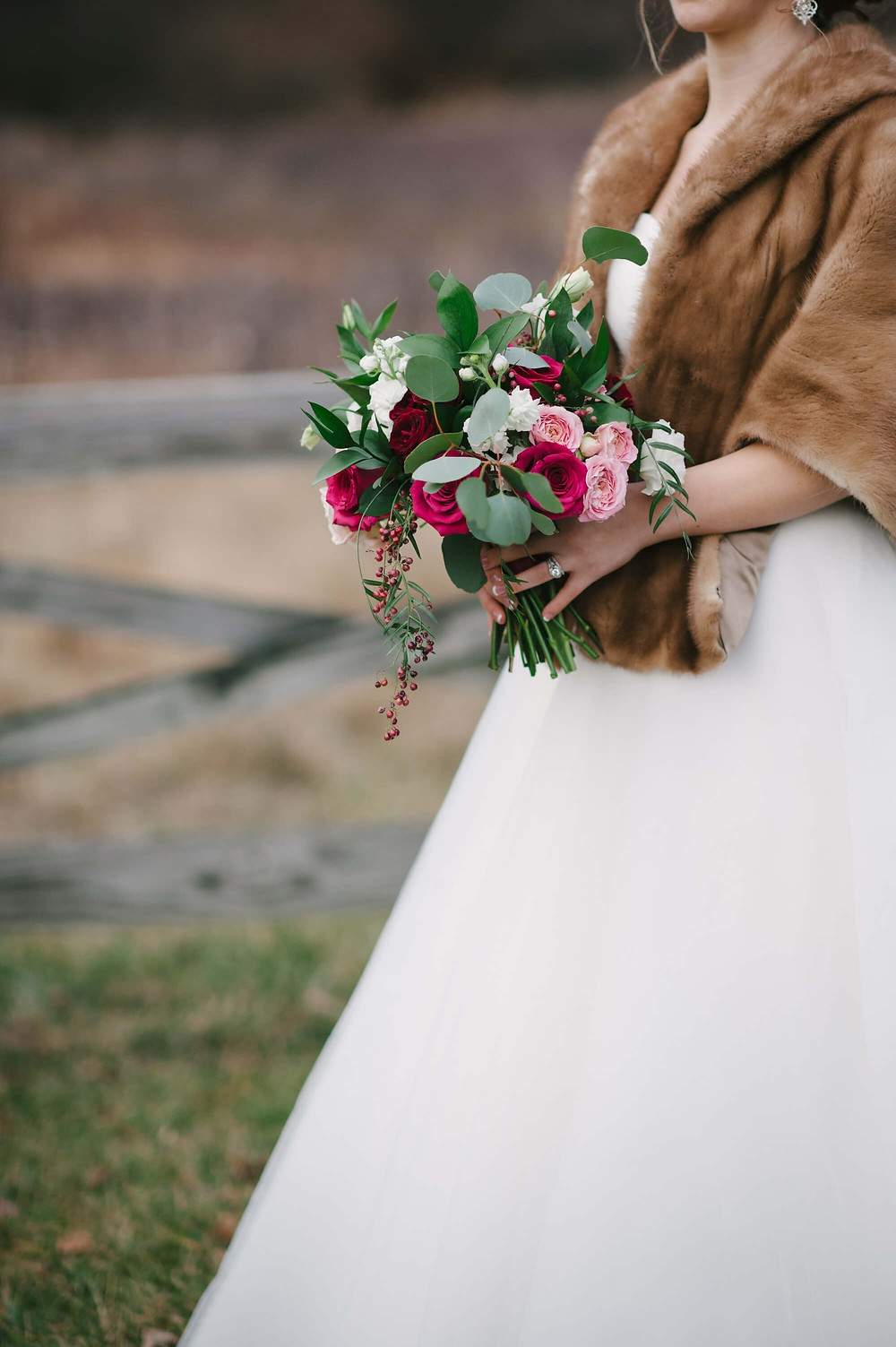 Virginia Winter Wedding Bouquet