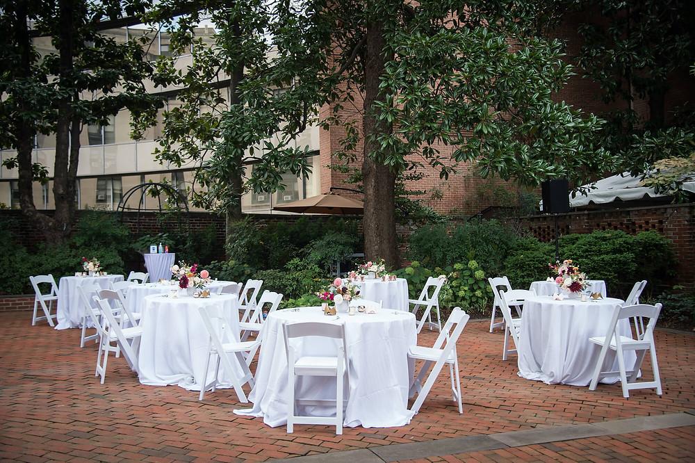 dacor bacon house wedding courtyard