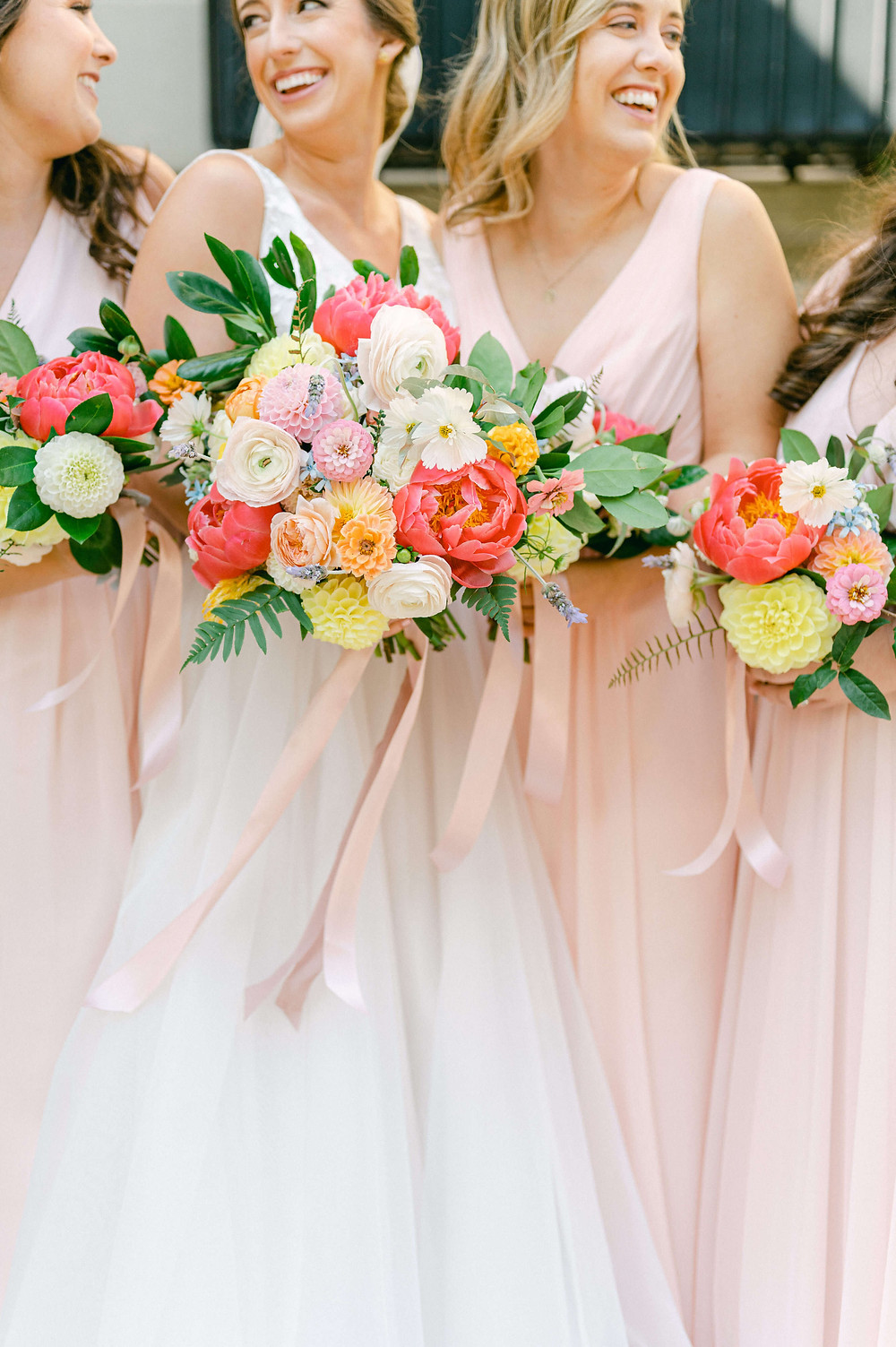colorful fall washington dc wedding