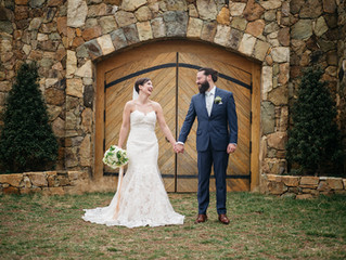Garden Inspired Stone Tower Winery Wedding