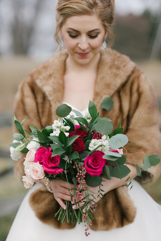 Virginia Winter Bridal Bouquet
