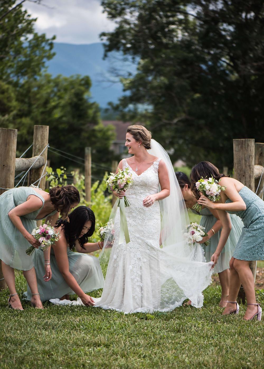luray virginia summer bride