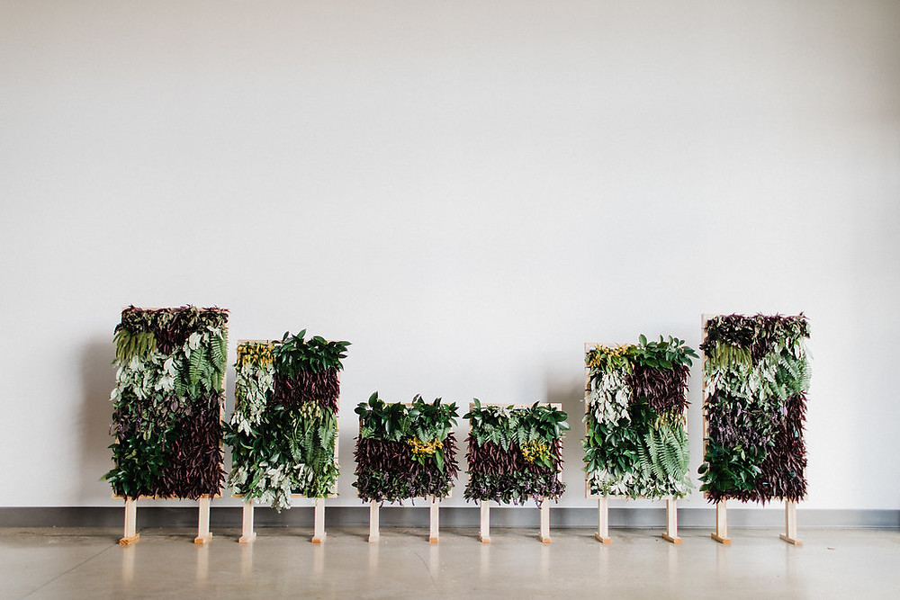 living plant greenery tapestry wedding