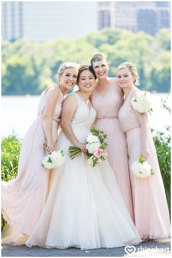 georgetown pink and white summer wedding