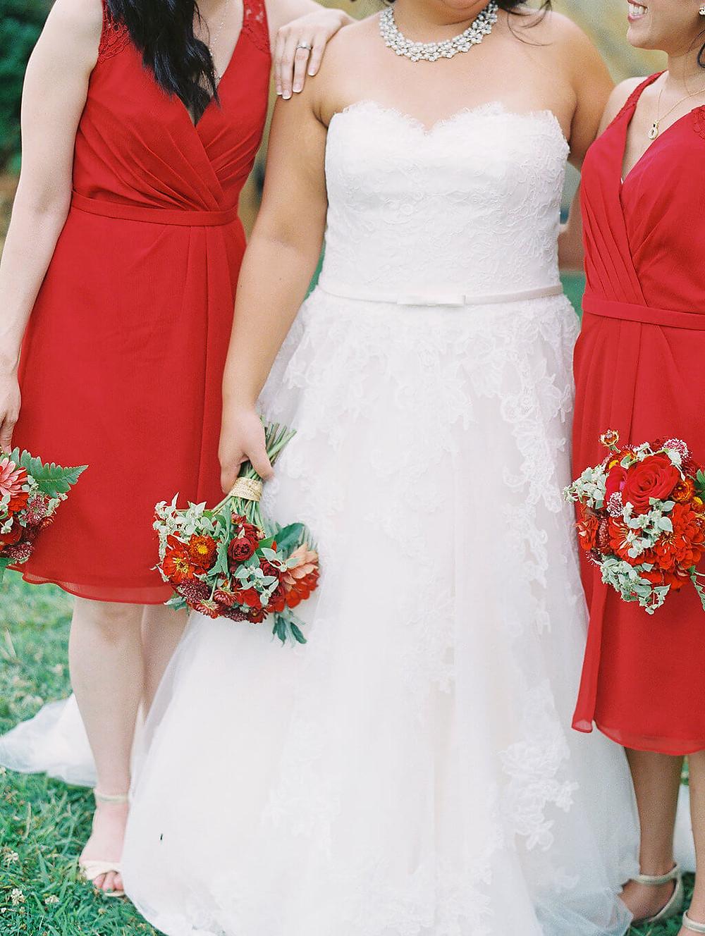 red virginia wedding