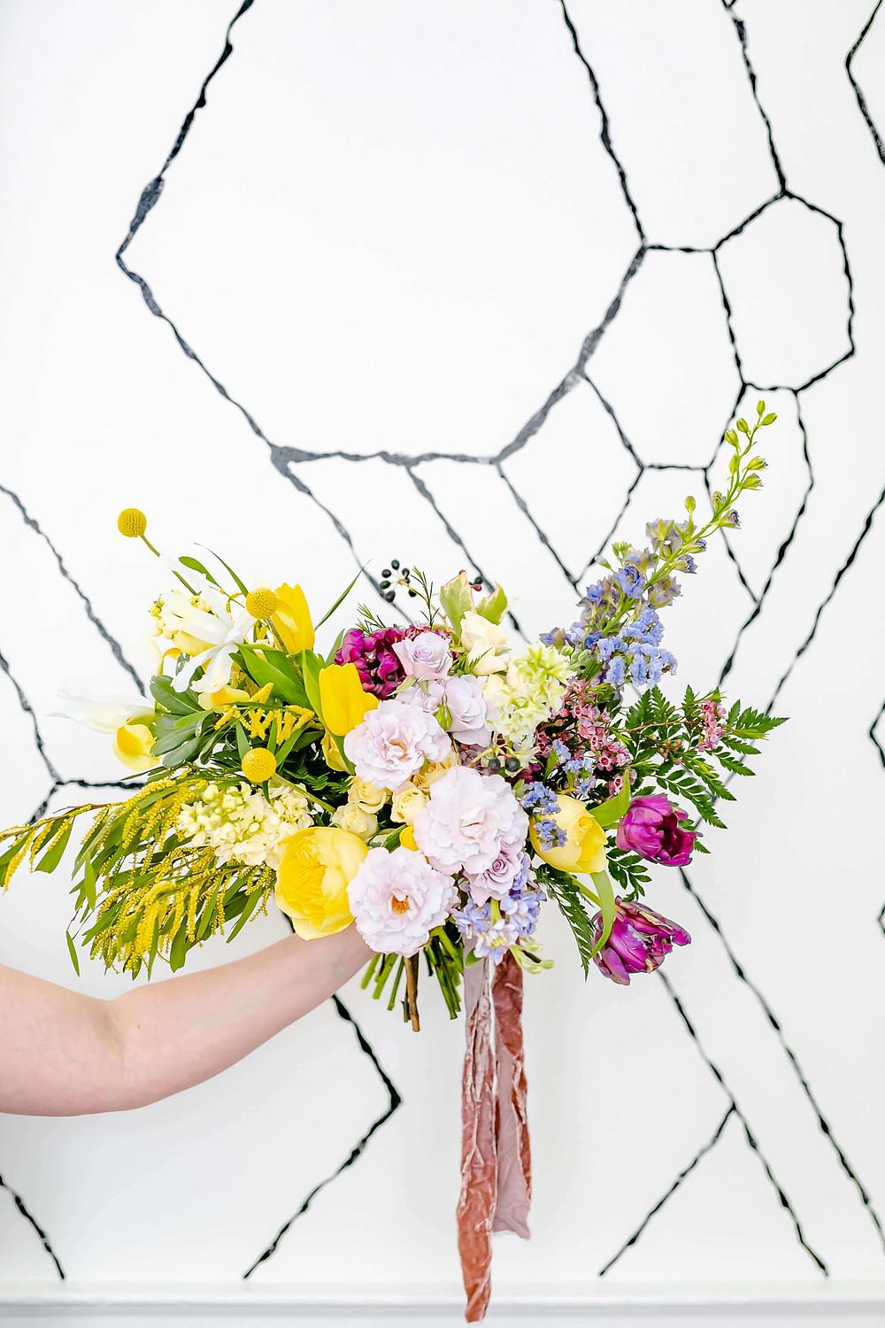 illuminating yellow washington dc bouquet