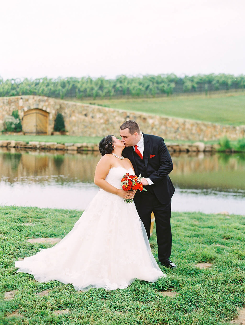 red stone tower winery wedding