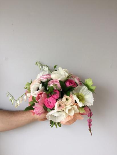 pink and white wedding bouquet washington dc