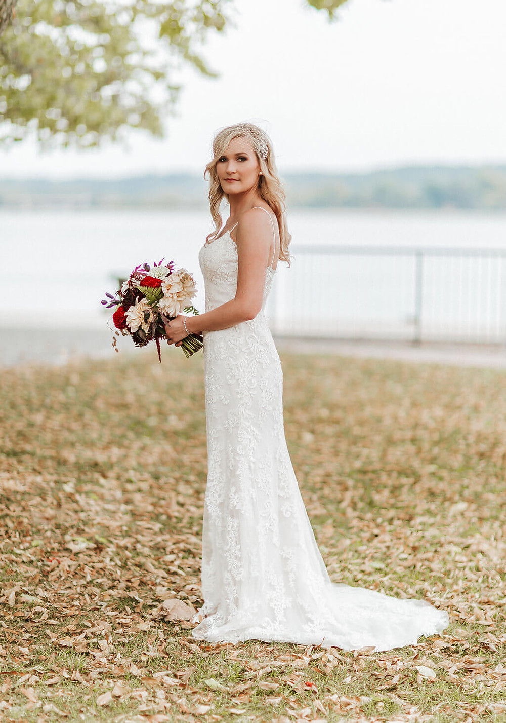 old town alexandria fall bridal bouquet
