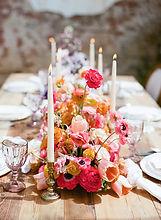 pink bohemian centerpiece