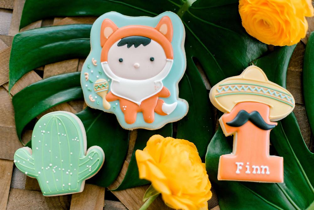 fiesta fox sugar cookies