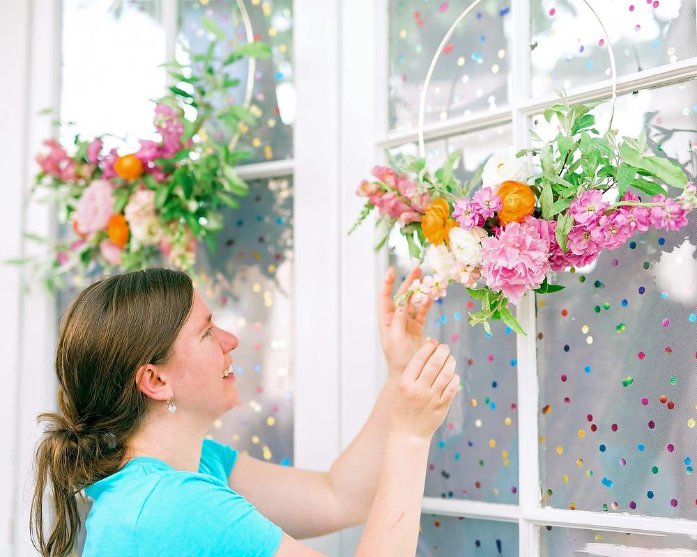 floral wreath spring