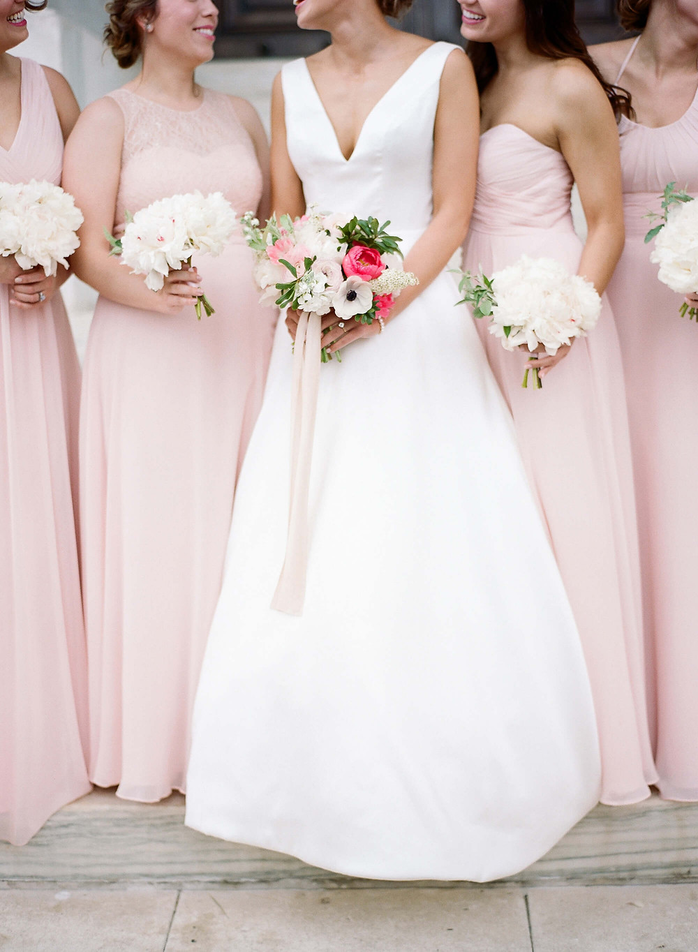 washington dc white and pink wedding