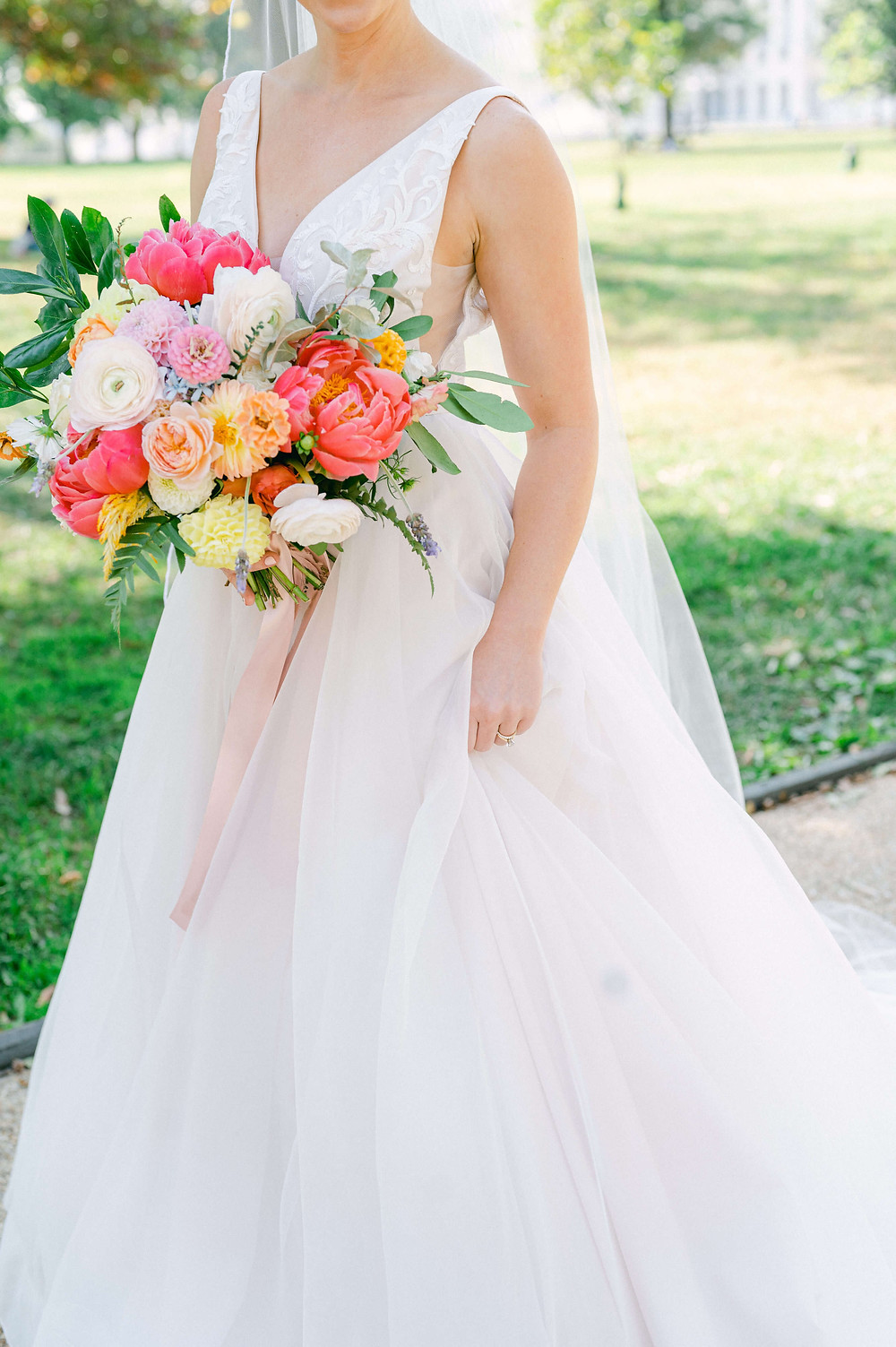 colorful washington dc wedding