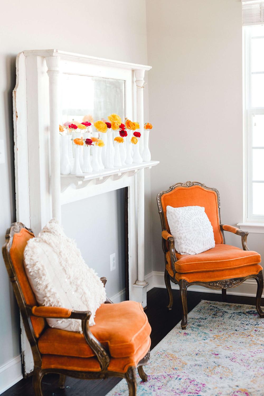 vintage orange birthday party