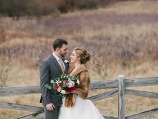 Winter Wedding at Meadowlark Botanical Gardens