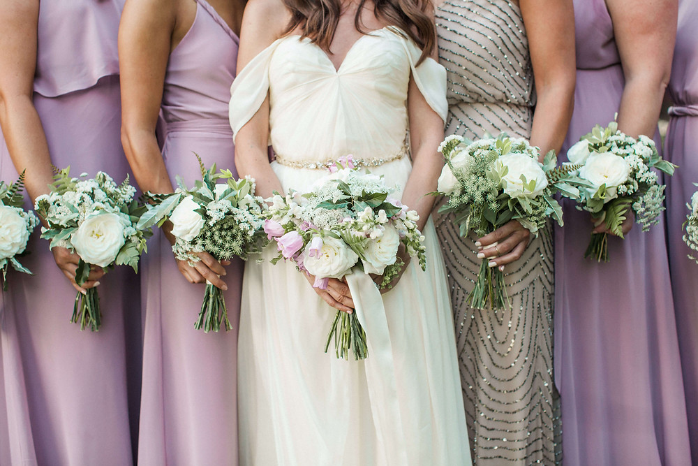maryland summer bride and bridesmaids