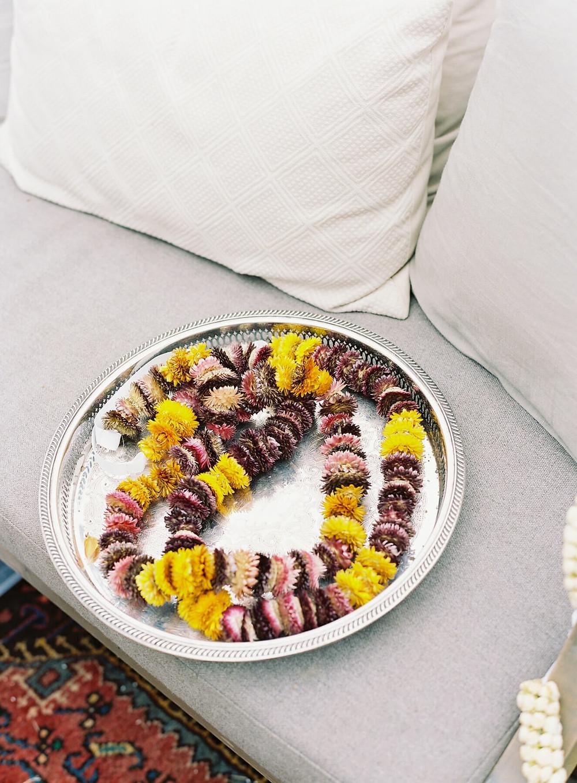 modern indian wedding garland