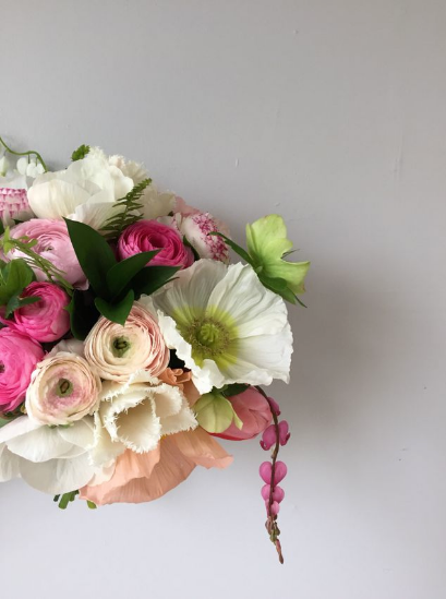 pink spring wedding bouquet washington dc
