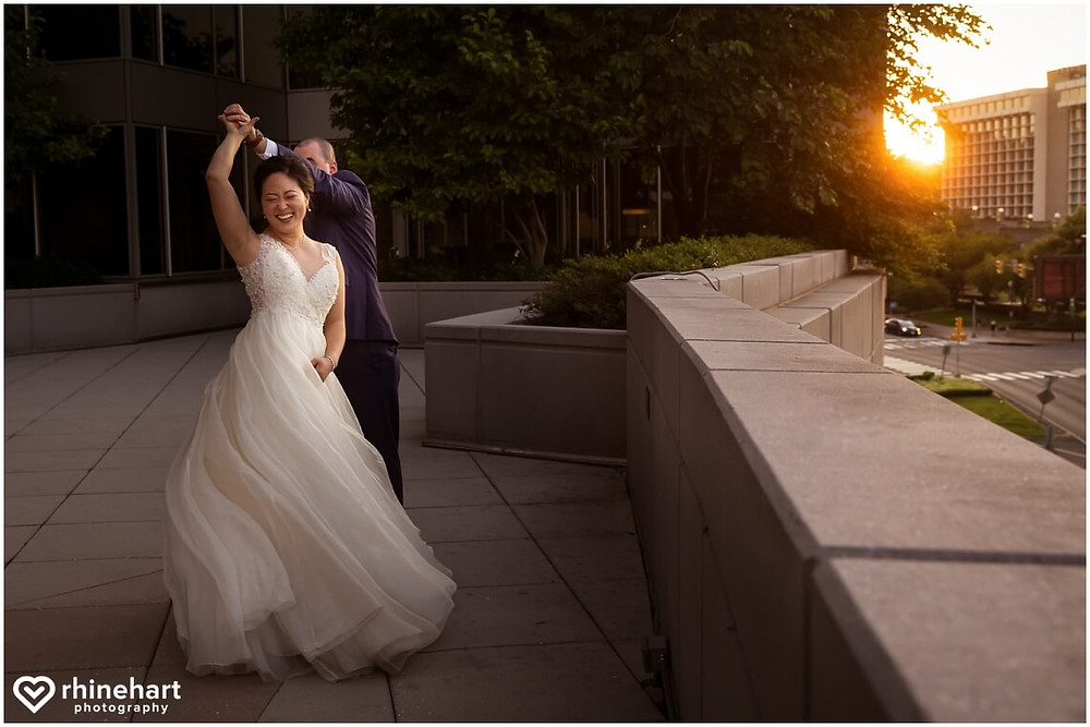 le meridien arlington sunset wedding