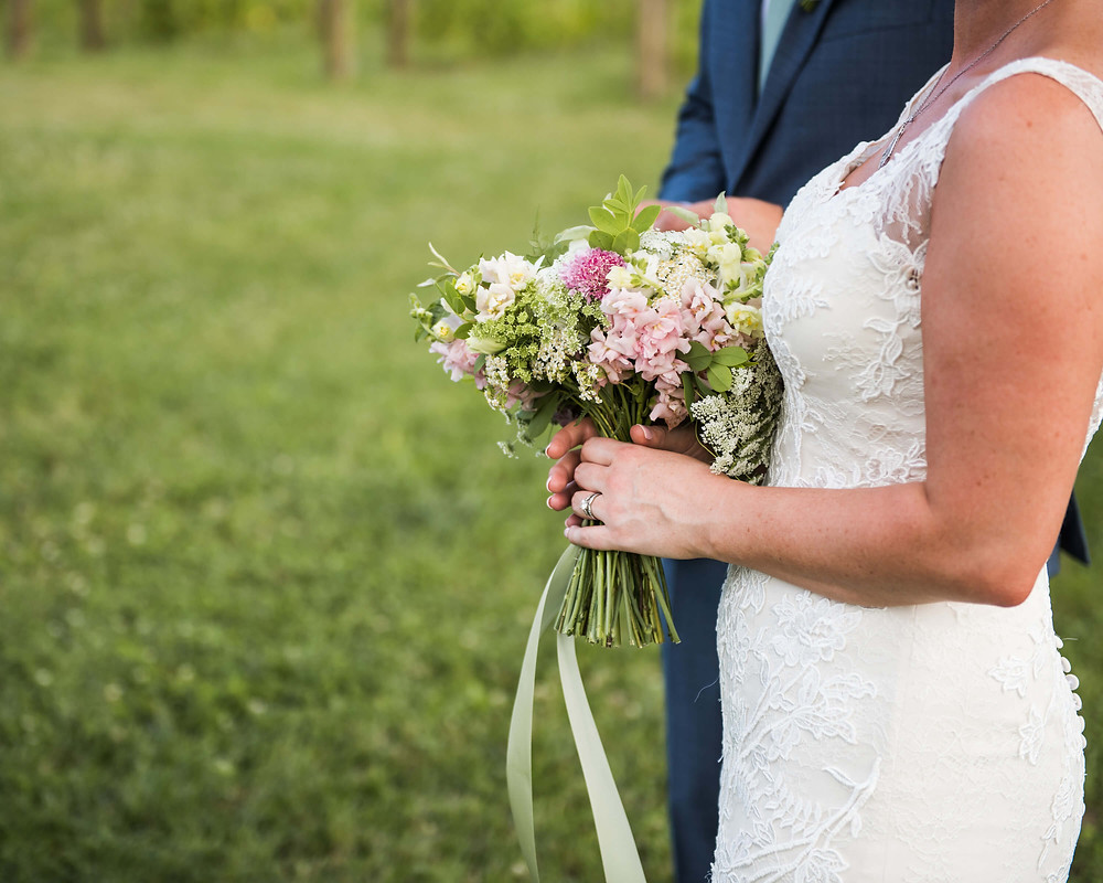 pink and white summer bouquet