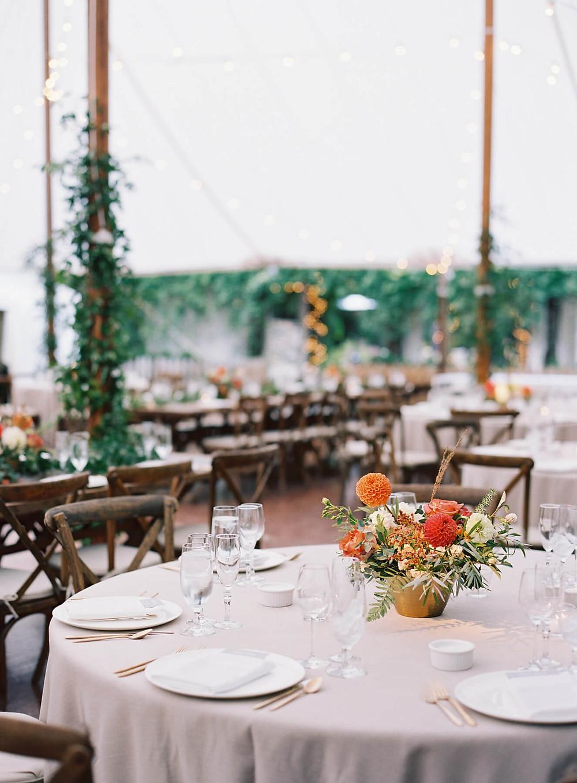 the clifton inn fall wedding