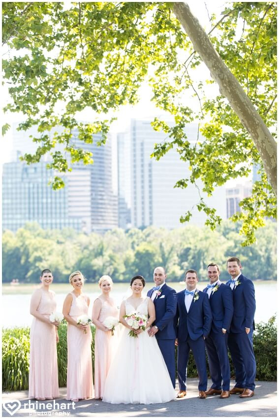 georgetown pink and white wedding party