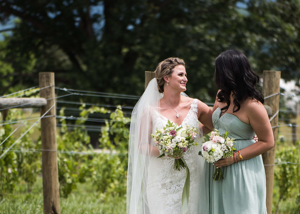 pink and mint summer wedding