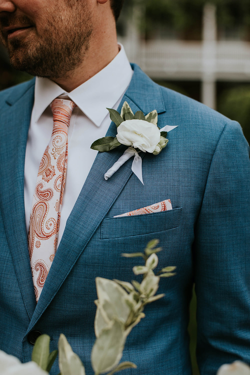 virginia spring wedding boutonniere