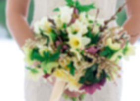 spring bridal bouquet by cedar and lime co