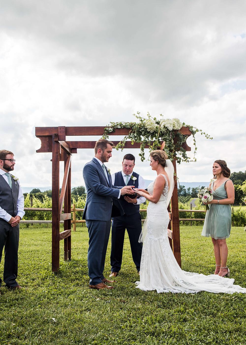luray virginia summer wedding
