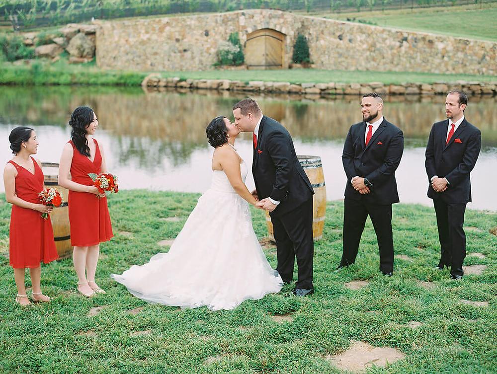 summer stone tower winery wedding