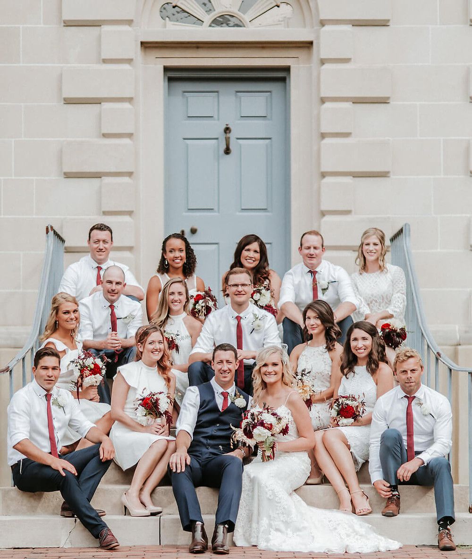 burgundy and white fall wedding