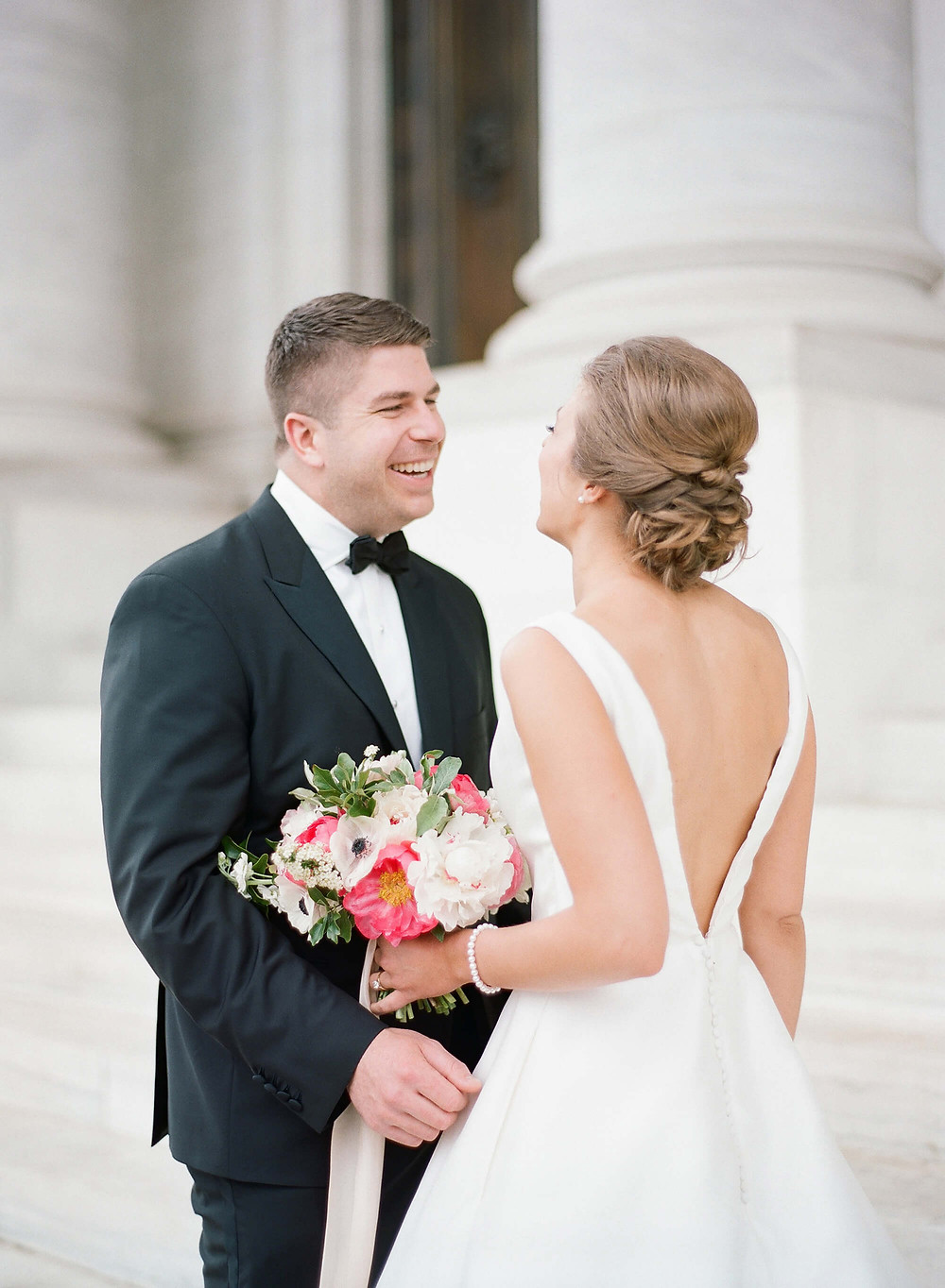 washington dc pink wedding