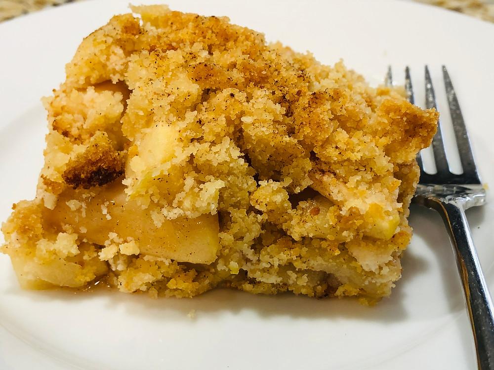 Recipe for vanilla apple cobbler Paleo, GF, Vegan option
