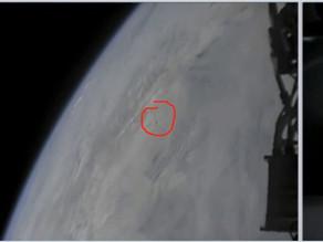 """צופים בשידור החי של שיגור טיל הפלקון אתמול טוענים כי הבחינו בעב""""מים"""