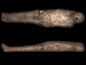 מומיה מצרית נמצאה קבורה בשריון מוזר