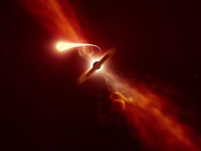 טלסקופים לכדו חור שחור בולע כוכב