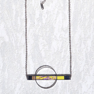 orbit necklace yaellow