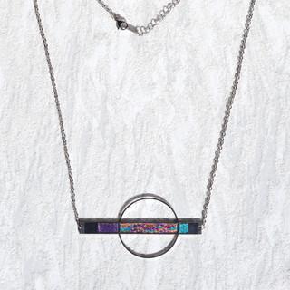 orbit necklace pink