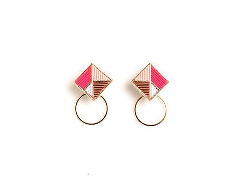 Square Hoop<Pink>