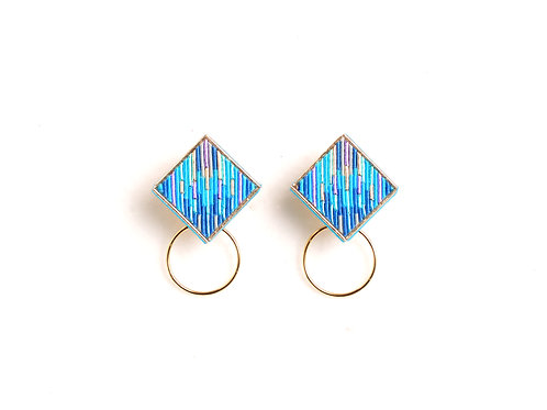 Square Hoop I〈Turquoise〉