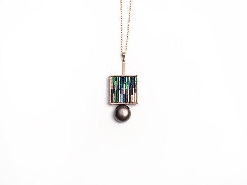 Wood necklace (black)