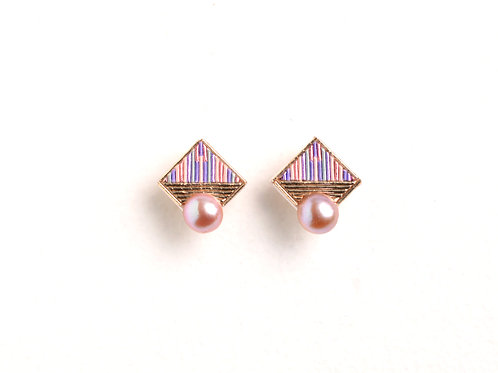 Square pearl 〈Pink〉