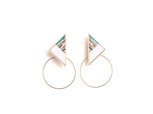Triangle Hoop〈White〉