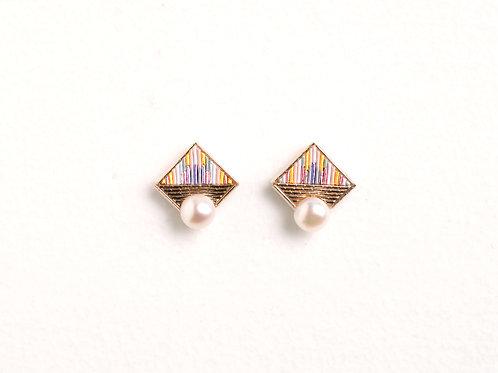 Square pearl <Gold>