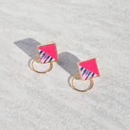 square hoop z pink