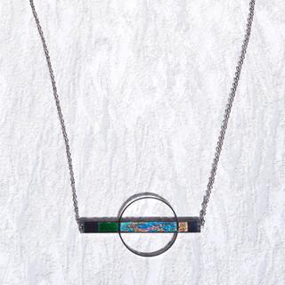 orbit necklace blue