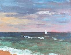 Amber Skies, Patricia Corbett, Oil, 5x7,